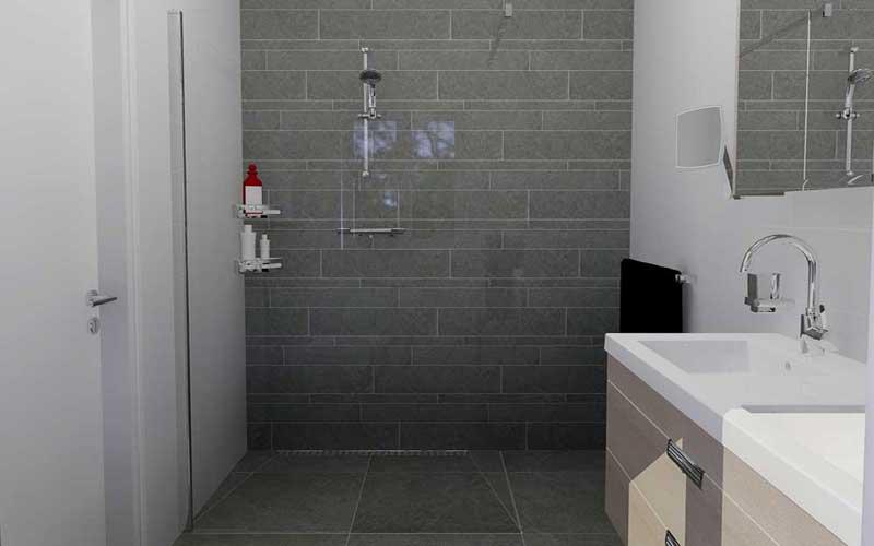 Inloopdouche Met Badkamermeubel : Badkamer 15 inloopdouche tegelstroken caesar slab gris de